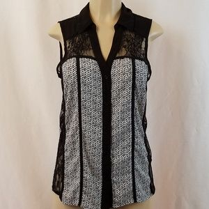 Maurices Lace Inset Sleeveless Blouse